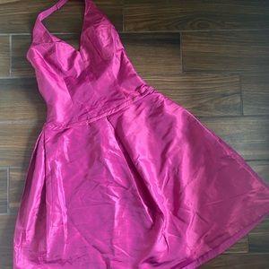 Amsale Halter Dress